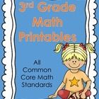 3rd Grade Math Printables This product includes 5 printable worksheets for each 3rd grade Common Core Math Standard. Over 120 usable pages!   Each ...
