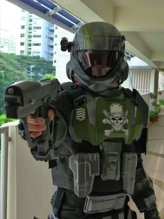 Well Marines, after almost a year + after receiving all 9 Set Kits from Sean [Thanks Bro! Halo 3 Odst, Unsc Halo, Halo Cosplay, Cosplay Armor, Best Cosplay, Fallout Fan Art, Fallout Concept Art, Captain America Suit, Animal Sleeve Tattoo