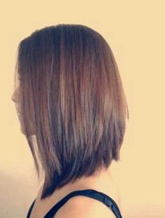 Angled long bob with long layers