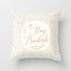 Stay Bookish - Vintage Throw Pillow