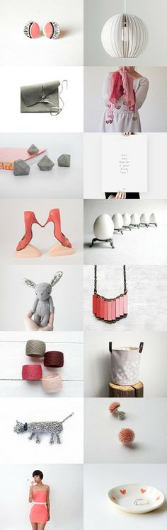 coral grey easter by Barbara on Floating Shelves, Gift Guide, Coral, Minimalist, Pastel, Trends, Fresh, Accessories, Etsy
