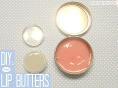 Beauty DIY: Inspired by Nivea Lip Butters You'll Need: container/tin Base 1: shea butter or coconut oil Base 2: Vaseline Jelly Color: lipstick or eye shadow Oil: vitamin E or almond oil Scent: flavor oils small microwavable bowl spoon