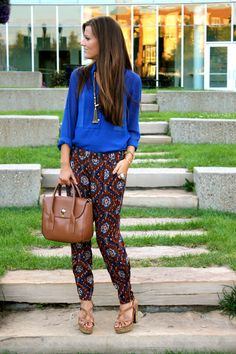 Great outfit to transition to fall, light pieces. They are called harem pants lol @Brittany Guardino