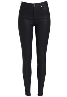 For the ultimate style and comfort we love the Steel High Rise Jegging!Our jeggings are designed as a lightweight super stretch jean. Made from world class Italian denim, the Steel High Rise Jeggings mould perfectly to your shape. They feature a high shine leather look coating, high rise waist, super skinny leg, button and fly zip closure and signature five pocket design.Pair with a black top and barely there heels for a fierce look!Model is wearing a size 10 and is 174cm tall.Buy and Try…