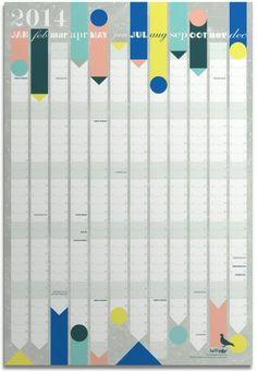 Lollipop Designs 2014 jaarplanner 50 x 70 cm | PSikhouvanjou