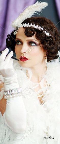 1920 Great Gatsby, Great Gatsby Fashion, Great Gatsby Party, Gatsby Style, White Fashion, Retro Fashion, Vintage Fashion, Vintage Style, Gatsby Themed Party