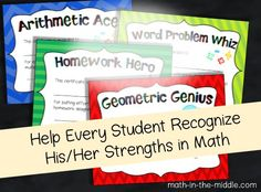 Celebrate the achievements of every student in your math class this year!