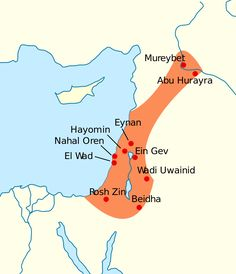 A map of the Levant with Natufian regions across present-day Israel, Palestine, and a long arm extending into Lebanon and Syria Younger Dryas, Punic Wars, Early Humans, Archaeology News, Stream Of Consciousness, Carthage, Historical Maps, Earth Science, World History