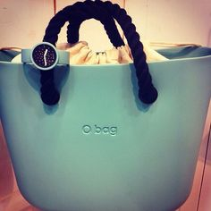 Obag mini  in turquoise. With OClock watch; in turquoise with crystals face.