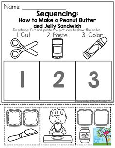 Sequencing: How to Make a Peanut Butter and Jelly Sandwich. TONS of activities simple for preschool to help build confidence!