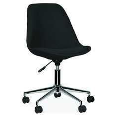 Scandi Designs Black Upholstered Office Chair With Castors Office Chair Mat, Office Chair Cushion, Best Office Chair, Chair Cushions, Office Chairs, Dining Room Table Chairs, Eames Chairs, Ikea Chairs, Desk Chairs
