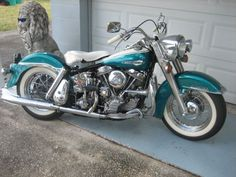 1963 Harley-Davidson 1200 Touring , turquoise/white, 29,000 miles for sale in melbourne, FL