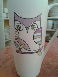 Owl mug ~ work in progress