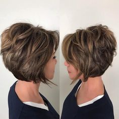 25 Mesmerizing Ways of Wearing Blonde Highlights on Brown Hair – Stunning and Elegant Statement Layered Haircuts For Women, Short Hairstyles For Thick Hair, Haircut For Thick Hair, Short Hair With Layers, Hairstyles Over 50, Short Hair Cuts, Curly Hair Styles, 2015 Hairstyles, Celebrity Hairstyles