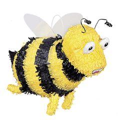 Piñata abeja: Esta piñata representa una abeja con alas y antenas. Mide 25 x 39 cm. Es ideal para tus fiestas y meriendas de cumpleaños.Unique party branding