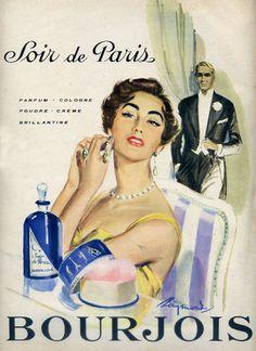 BOURJOIS 1950s | Soir de Paris | #vintage #beauty #advertising
