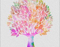 TREE Archival Watercolor Art Print 5 x 7 von ImageDeSignStudio
