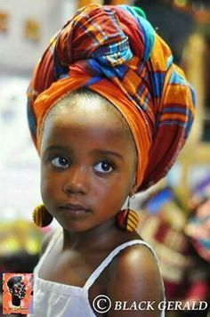 You're never too young to be adorned with a headwrap.