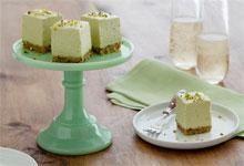Avocado Cheesecake Bites with Pistachio Shortbread Crust Recipe