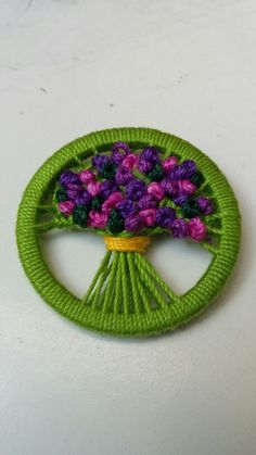 Best 12 Learning new skills from internet friends….( in Devon) – SkillOfKing. Button Art, Button Crafts, Embroidery Stitches, Hand Embroidery, Dorset Buttons, Plastic Canvas Coasters, Crochet Buttons, How To Make Buttons, Textile Jewelry
