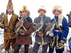 Young falconers in a hunting competition in Almaty, Kazakhstan. Photo by RFE/RL's Kazakh Service.