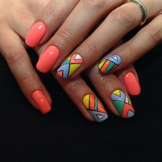 Nail Art Designs Videos, Cute Nail Art Designs, Creative Nail Designs, Colorful Nail Designs, Creative Nails, Diy Nails, Cute Nails, Quilted Nails, Romantic Nails