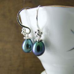 Peacock Pearl India Hooks £110 #alexisdove jewellery