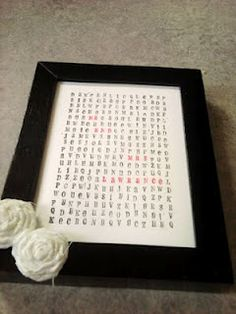 Personalized Word Search Style Present. Would be a good wedding present!