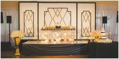 Real Wedding: Art Deco White, Black, and Gold Wedding at Los Verdes Golf Course | Shawna Yamamoto Event Design