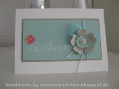 Glückwunschkarte - Stempelperlchen