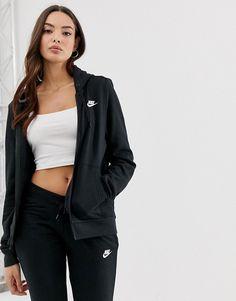 Nike Grey Club Fleece Zip Through Hoodie in 2020 | Nike