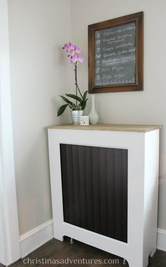 Cover a radiator for some new surface space!