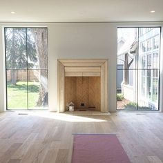 This weather is pure BLISS. So are those windows...that fireplace...that view. #progress #showhouse #interiordesign #jjordanhomes #newconstruction #luxury #farmhouse #lovewhereyoulive #home #hearth #design #staytuned #bliss #sunshineday