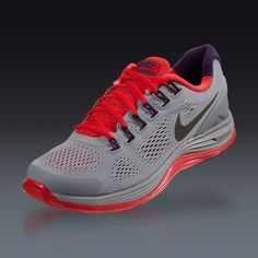 4c46f6f9bb30b Nike Lunarglide+ 4 - Stadium Grey Metallic Dark Grey Pimento Grand Purple  Running