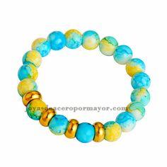 pulsera de piedra natural especial mezcla aros dorado para mujer-SSBTG412974