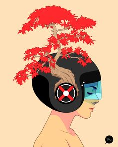 Mind nature, amazing illustration by Francisco Perez.