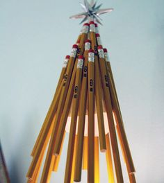 60 clever ways to repurpose office supplies via brit co - Office Supply Christmas Decorations