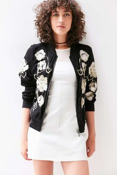 Kimchi Blue Molly Embroidered Bomber Jacket #UrbanOutfitters