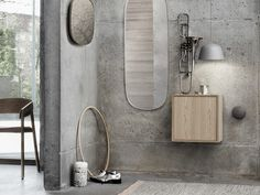 Scandinavian mirror interior inspiration from Muuto: Made from powder coated steel frames with colored mirror glass, the Framed Mirrors is a gently artistic interpretation of the classic mirror.