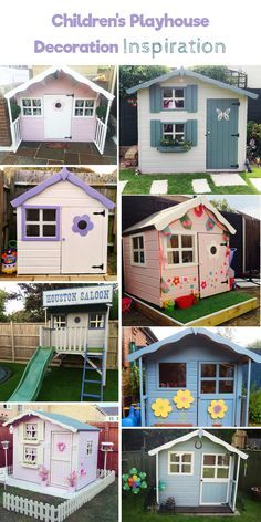 Children's Playhouse decorating ideas and inspiration. Playhouse ideas for girls and boys.