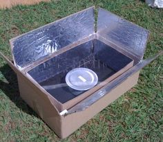 cardboard box solar cooker -- super simple, anyone can build this