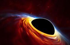 Representación artística de un agujero negro supermasivo de 100 millones de masas solares desgarrando a una estrella