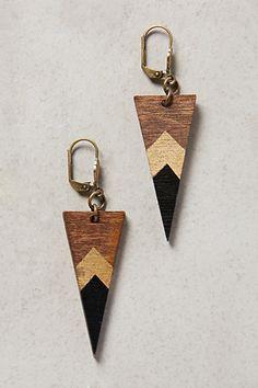 Wooden Deco Dagger Drop earrings # 33264334 @ Anthropologie $25 LOVE