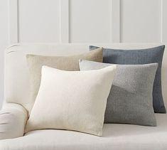 Lennox Pillow Covers #potterybarn Linen Pillows, Decorative Pillows, Bed Pillows, Accent Pillows, Cushions, Pillow Texture, Back Pillow, Simple Style, Pottery Barn