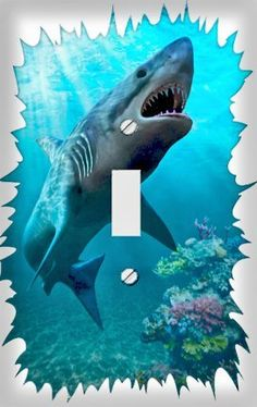 Great White Shark Decorative Switchplate Cover by Unknown, $4.99 + $4.69 shipping http://www.amazon.com/dp/B001HAQJP2/ref=cm_sw_r_pi_dp_uZW2rb0H1JSCM