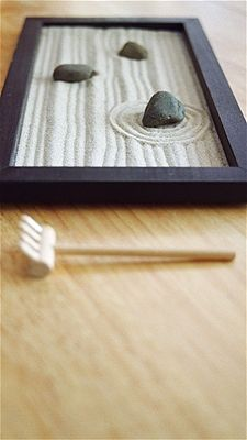 I want a zen garden.    Because I like to play in the sand.