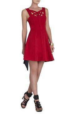 Top detail; Yasminka Corset A-Line Dress - BCBG Maxazria