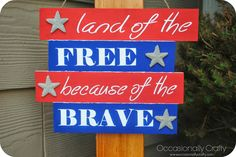 DIY Patriotic Sign!