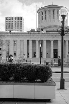 Self-portrait at the Ohio Statehouse