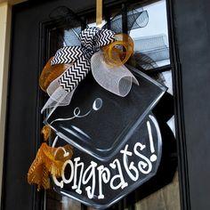 Graduation Wreath Graduation Door Hanger by LooLeighsCharm on Etsy, $45.00